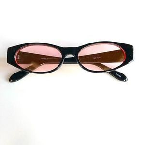Accessories - PINK Retro Vintage Geometric Slim Sunglasses